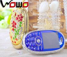 2014 Chinese szfamous Rhinestone Crystal luxury ladies phones 1.44inch screen NIKIO N777