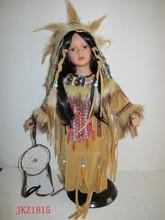 vintage native american indian menina composição boneca de cerâmica
