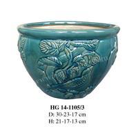 Vietnam new design garden ceramic flower pot (HG 14-1105/3)