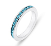 hot sale new design fashion stainless steel ring crystal paved rings