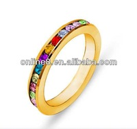 stainless steel couple ring,couple stainless steel ring cheap fashion rings with big rhinestone