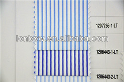 Wholesale High Quality Cotton Blue White Stripe Fabric For Mans Shirts