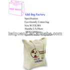 china manufacturer new product eco logical organic cotton shopping bag promotion/tote bag/big h
