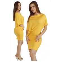 Mustard OFF SHOULDER Long T Shirt Cotton T Shirts Women