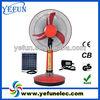 "YF-16E hot selling high power 16"" cheap ac dc 12v 2014 battery outdoor solar fan table"