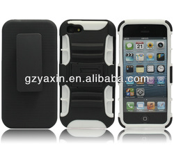Kickstand plain mobile phone case for iphone 5 made in china