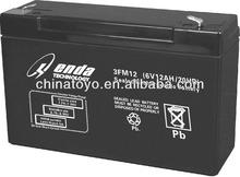 6V12AH price of solar battery