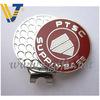 Company logo hard enamel golf hat clip with ball marker