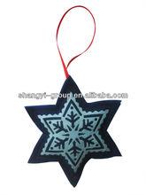 (XD-10)2014 New Fashion Indoor Felt Snowflake Christmas Star Decoration/Ornament