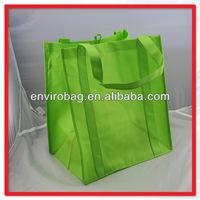 Green Non Woven Blank Shopping Bag