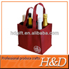 Durable 6 bottle recycle PP non-woven wine tote bag