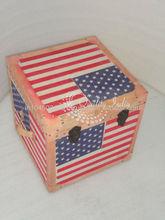 Flag Design Printed Mettalic Storage Box