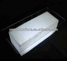 YM cylinder table led plastic furniture for sale