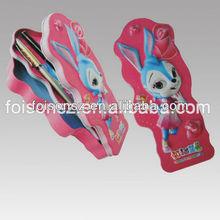 rabbit metal tin pencil case for promotion
