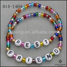 Neon Beads Friendship Children's Jewelry Bracelets BEST FRIEND BFF Set Great Gift or Party Favor Bracelet Jewelry