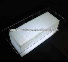 YM Hot Sale Plastic LED furniture/LED side table