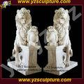 Blanco piedra de mármol de la escultura de león amsn- a024s