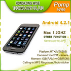 4.6 Inch Android 4.2 Quad Core Mobile Phone POMP W89 1GB/4GB 3G