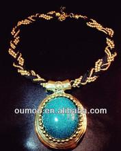 Empress Style Emerald Beaded Women Necklace