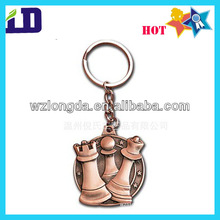 Antique color Chess game souvenior metal keychain