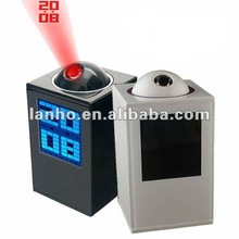 2014 Mini LCD Digital Projector LED Time Alarm Clock Brand New Fashionable Gift