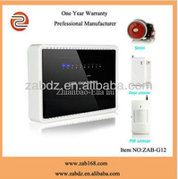 ZAB-G12,New type wireless multi-function intelligent GSM alarm systems,with door sensor,PIR motion sensor and sensor host