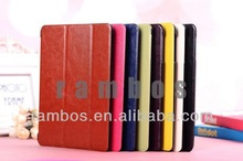 Ultra Thin Leather Smart Cover leather case for ipad mini