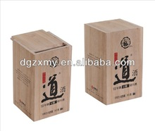 Available promotional custom wooden box for wine