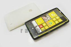 Soft Rubber Glossy TPU Case Skin Cover for Nokia Lumia 520
