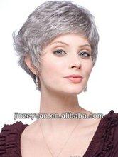 New Arrivals Grade 5A Grey Human Hair Short Bob Style Lace Wig