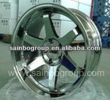 Chrome Volk Rays TE37 Car Alloy Wheels