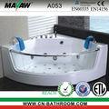 Canto interior banheira de hidromassagem banheiras de hidromassagem com vidro temperado avental A053