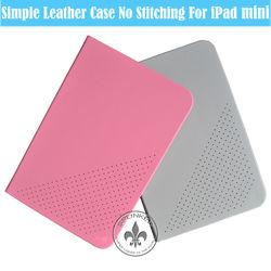 Single Color Smart Leather PU Flip Case For iPad Mini U5001-85