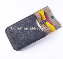 Plain Felt Phone Pouches/Cheap Cell Phone Bags