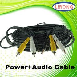 CCTV RCA cable audio transmission right angle mono audio cable