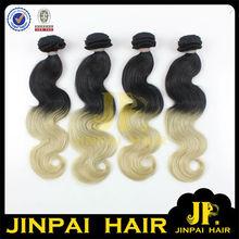 JP Hair Two Tone Color Virgin Brazilian 20Inch Human Hair Weave Extension