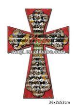 New Design Wood Cross Wall Hanging Decor