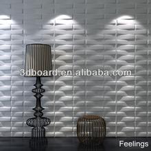 wave effect wall decorative bamboo sandwich panel