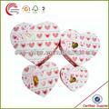 alta qualidade da moda atacado promocional forma de coração de chocolate caixa de embalagem em xangai