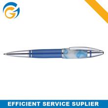Stone Pattern Blue Twist Metal Ball Pen