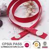 Red Grosgrain Ribbon Bracelet With Plastic Snap