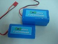 Li-ion Cylindrical GEB 18650 Battery Pack 7.2V 4000MAH