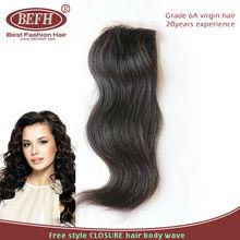 6A no shedding no tangle swiss lace 4x4 unprocessed brazilian hair body wavy bleached knots closure women hair toupees