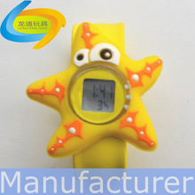 custom design cheap promotional item silicone slap watch