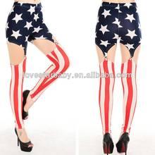 wholesale women sexy lingerie underwear garters belt with stars stripes pattern leisure bodysuit comfortable garter 9116