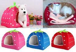 New Soft Strawberry Sharp Cute Pet Dog House