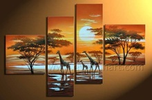 100% Handmade african famous abstract art paintings on canvas (AR-060)