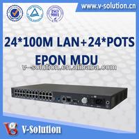ONT GPON/GE Uplink 24 port Network GPON/EPON Switch MDU