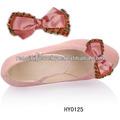 Nice design lady moda enfeites de sapatos sapato feito à mão flor com bead