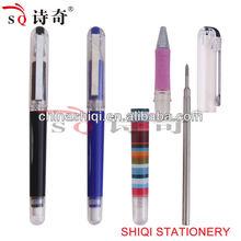 metal clip metal refill erasable ball pen